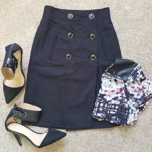 Banana Republic Dresses & Skirts - 🌿Banana Republic Button-Down Black Pencil Skirt🌿